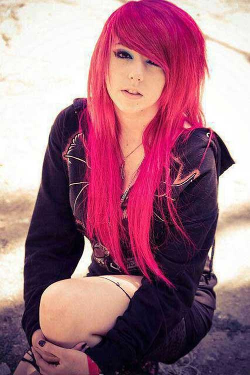 20 Emo Long Hair Hairstyles And Haircuts Lovely