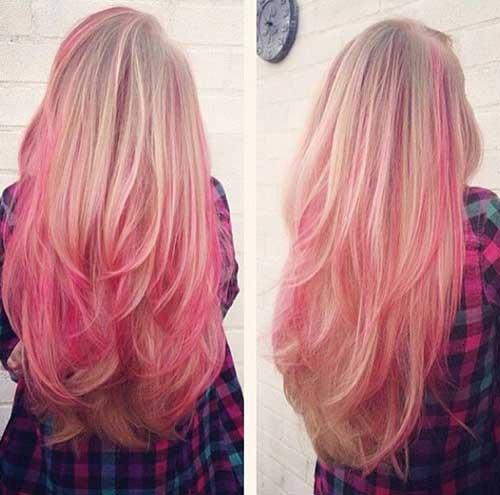 Pink Blonde Hair Color-19