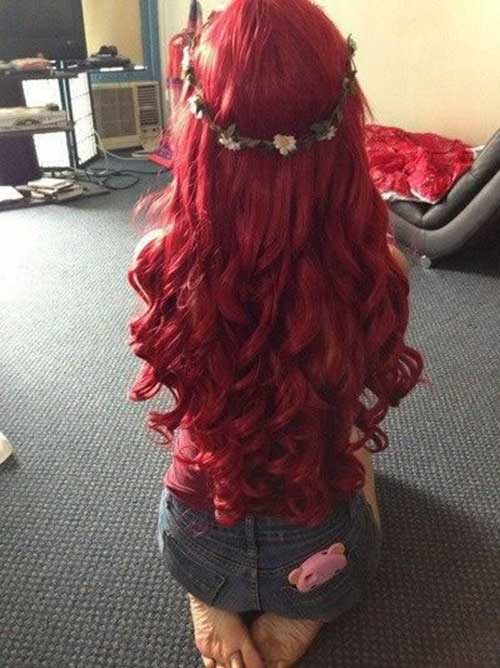 Cute Long Curly Hairstyles-20
