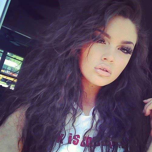 Cute Long Curly Hairstyles-23
