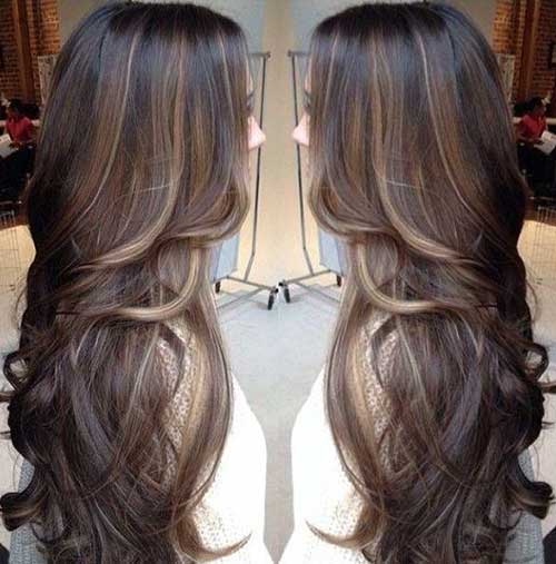 Long Dark Brown Hairstyles-23