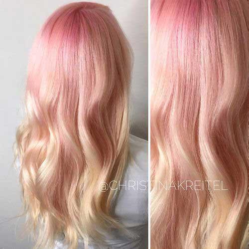 Pink Blonde Hair Color-23