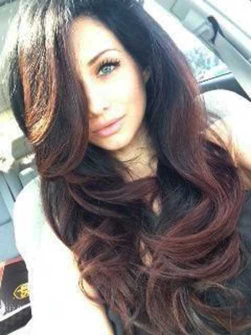 Long Dark Brown Hairstyles-28