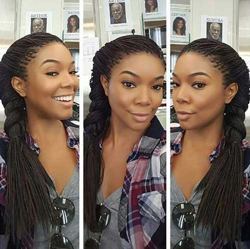 Afro Hairstyles with Braids-6
