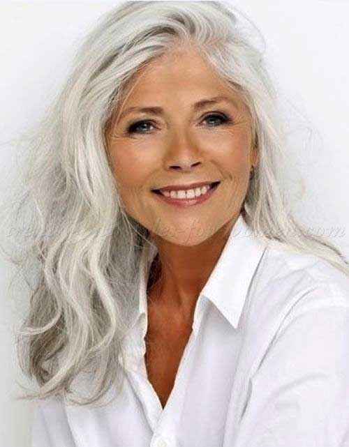Hairstyles for Long Faces Over 50-6