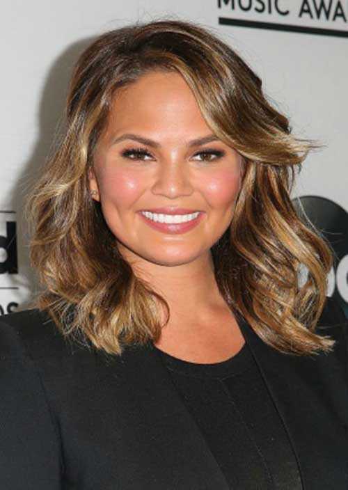 Hairstyles for Round Faces Long Hair-7