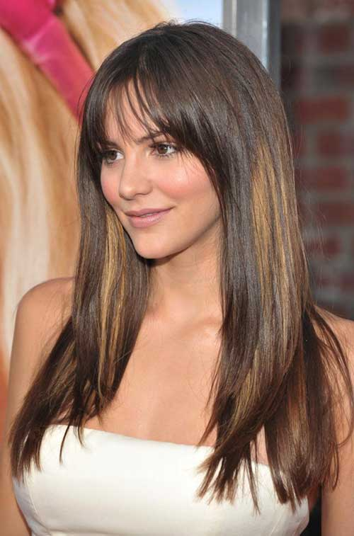 Hairstyles for Round Faces Long Hair