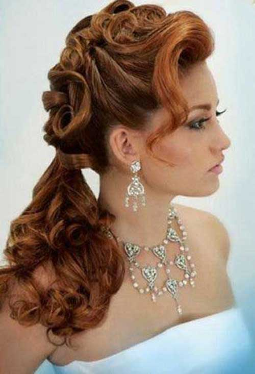 Party Hairstyles for Curly Hair-13