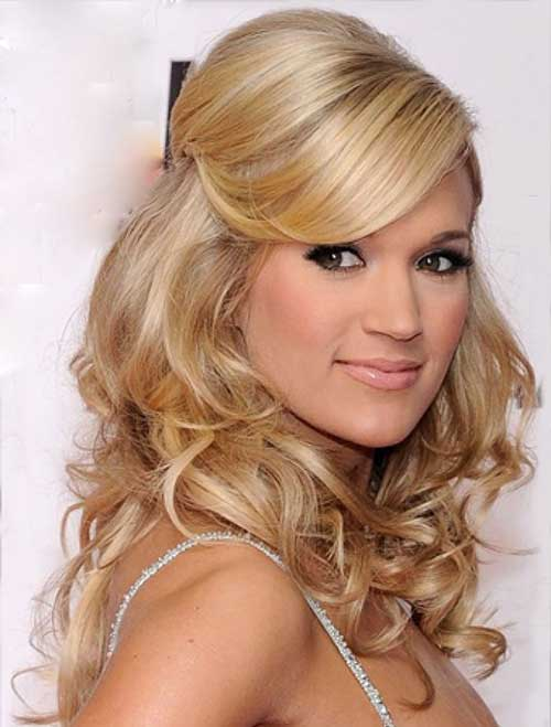 Party Hairstyles for Curly Hair-19