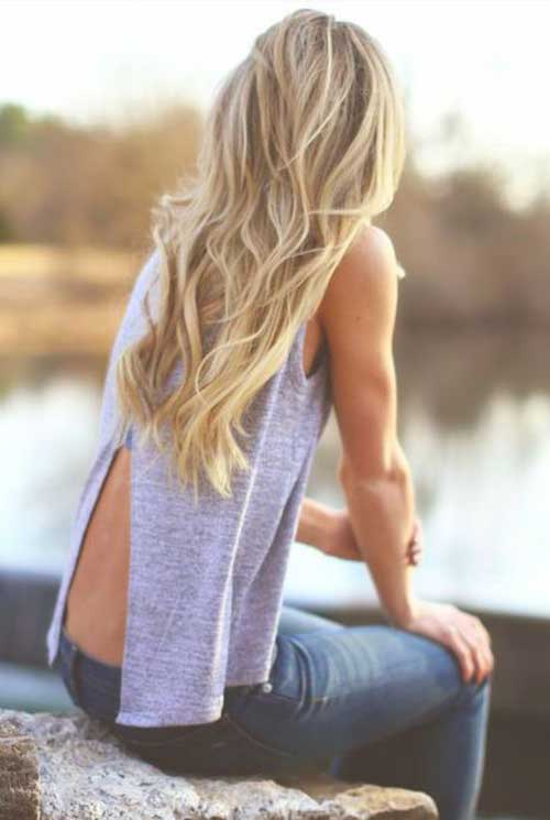 Long Dark Blonde Hair-7