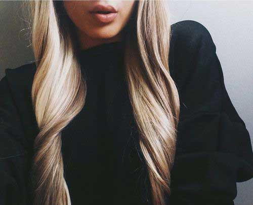 Long Dark Blonde Hair-9