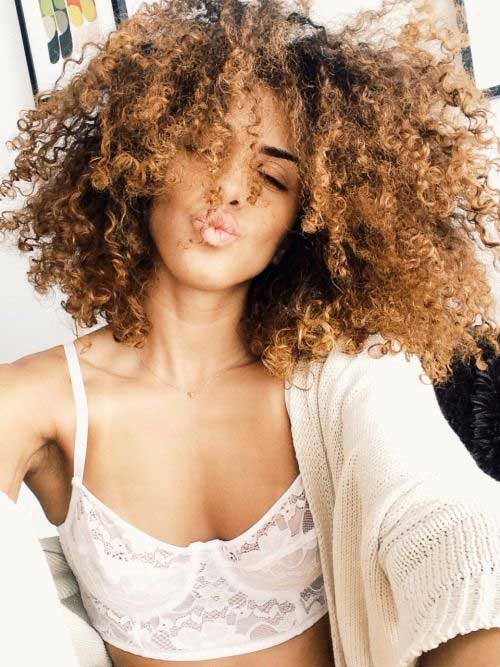 25 Light Curly Hair Hairstyles And Haircuts Lovely