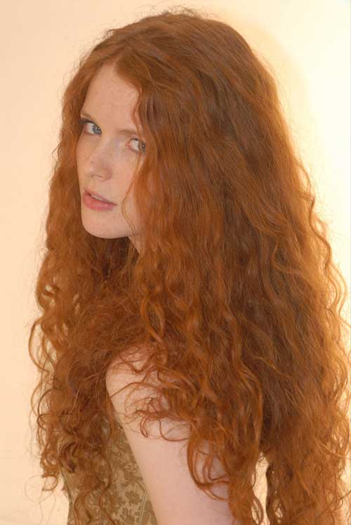Long Red Curly Hair-11