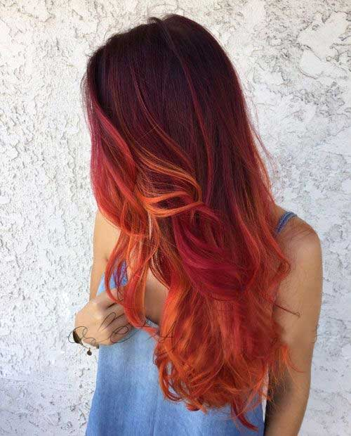 Red Long Hairstyles-12