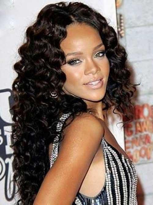 15 Rihanna Long Curly Hair Hairstyles And Haircuts