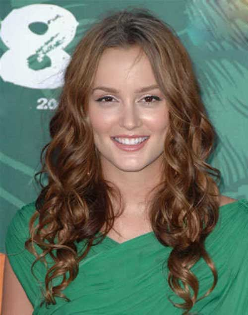 Long Curly Hairstyles for Round Faces-17