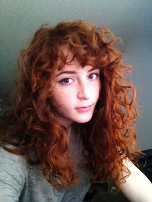 Long Red Curly Hair-17