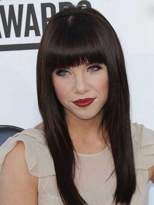 Long Hairstyles with Bangs 2015-19