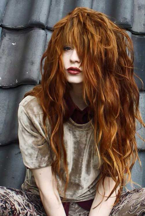 Red Long Hairstyles-20