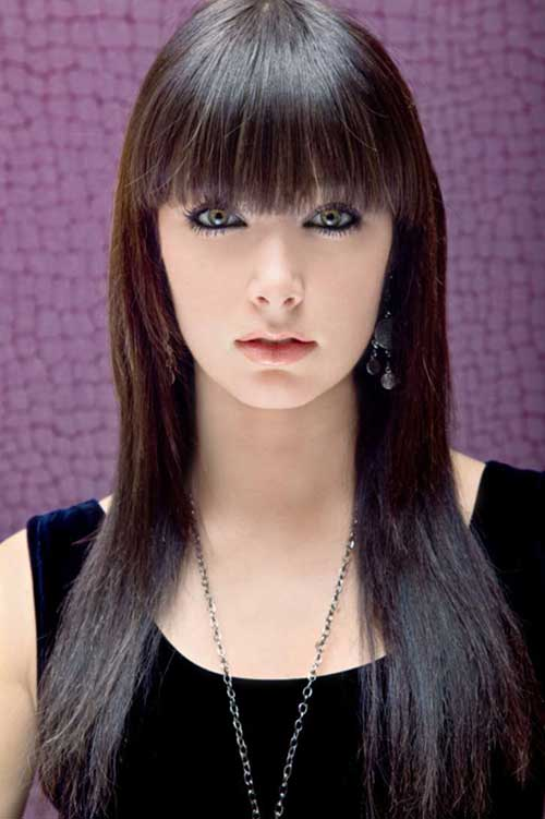 blunt haircuts for long hair 20 hairstyles with bangs 2015 2016 hairstyles 4866 | 8.Long Hairstyle with Bangs 2016