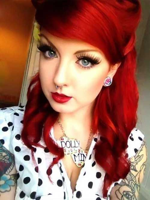 Red Long Hairstyles-8