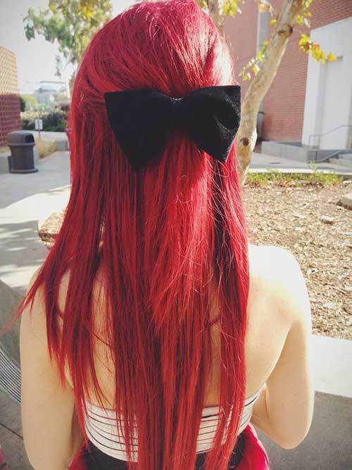 Cool Red Color for Hair