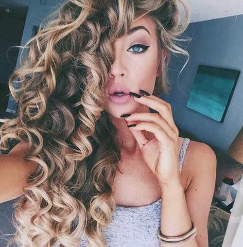 Light Curly Hair