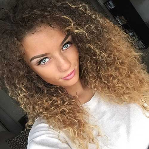 Light Curly Hairstyles