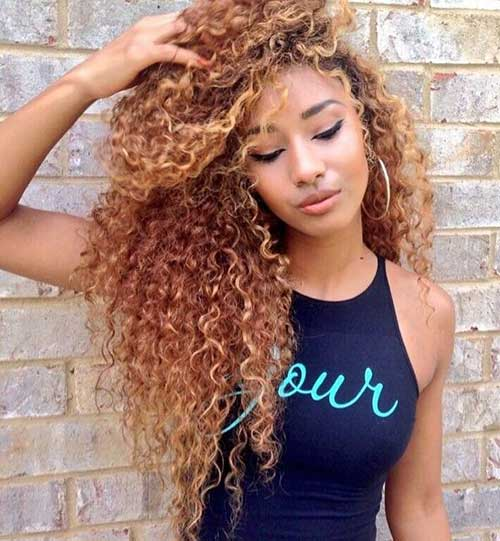 Long Natural Curly Hairstyles Haircuts