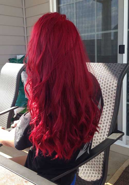 Red Long Hairstyles