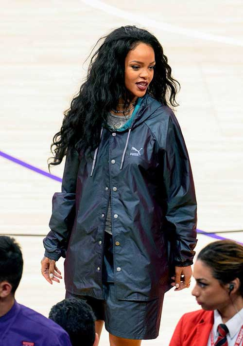 Rihanna Long Curly Hair