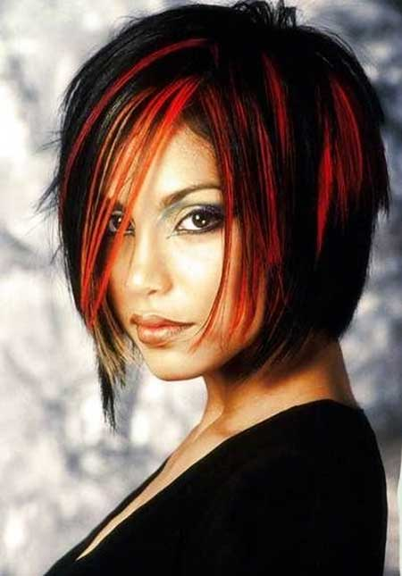 Amazing Black And Red Colored Hairstyles Hairstyles And