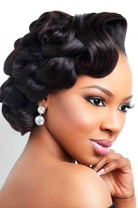 updo styles black hair 17 updo wedding hairstyles for black 3770 | 11 Updo Wedding Hairstyle for Black Women 20170713436
