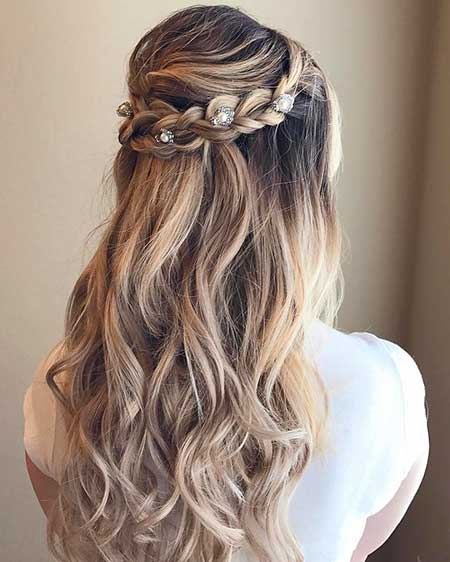 Half Up Half Down Braided Wedding Hairstyles: 30 Gorgeous Braided Half Up Half Down Hairstyles