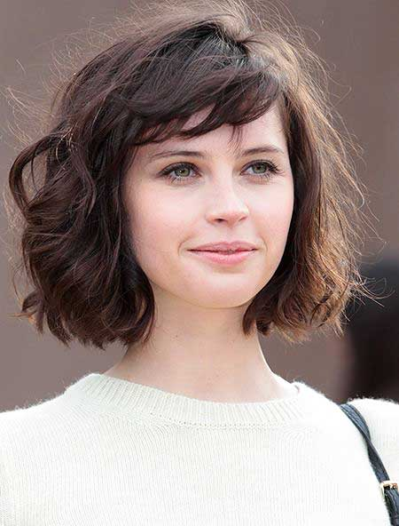 30 Stylish Curly Hairstyles with Bangs 2017