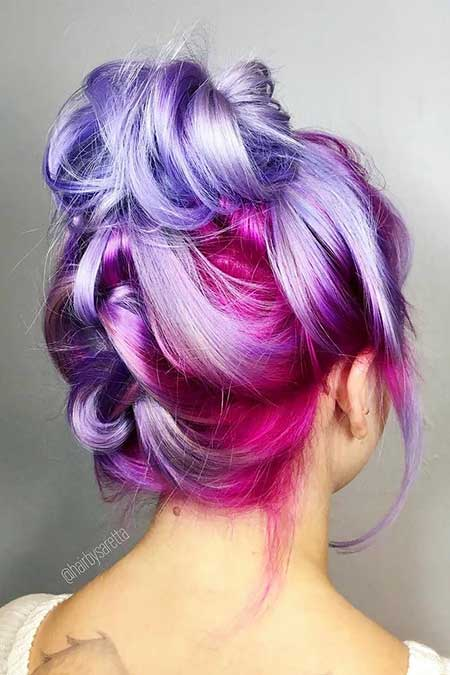 cute short haircuts and color 11 purple mermaid hair colors you will hairstyles 3598 | 3 Purple Mermaid Hairstyle 20170713232