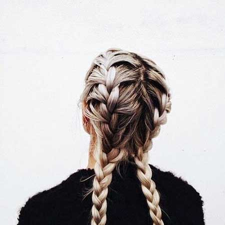 Pictures of Double French Braid Hairstyles