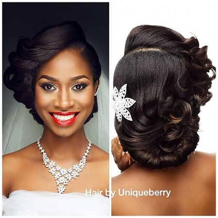 17 Super Updo Wedding Hairstyles For Black Women Hairstyles And