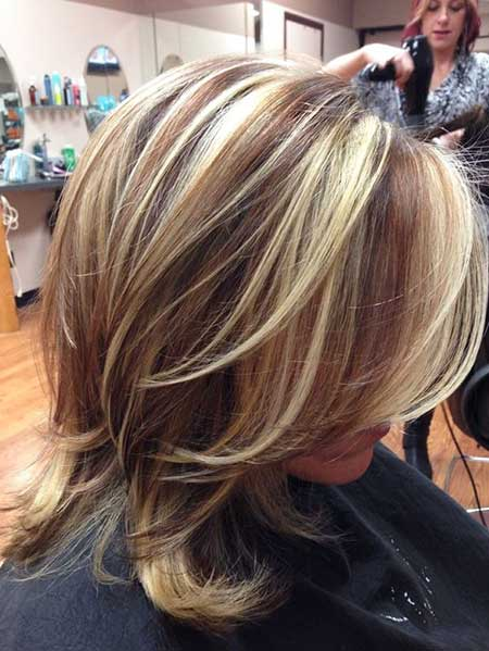 New Blonde and Brown Colored Hairstyles