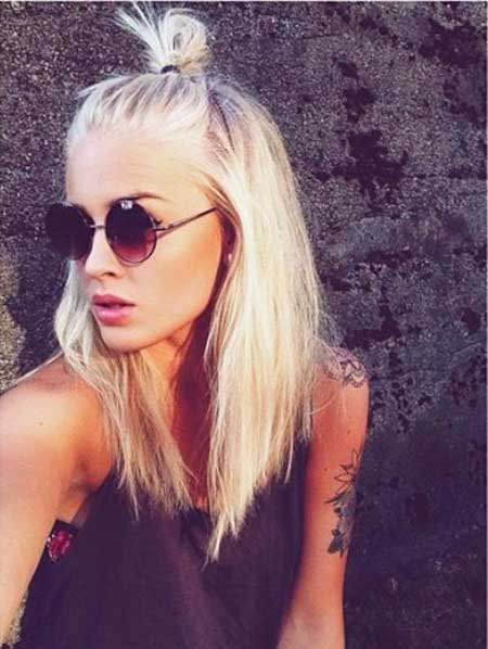 Hipster Hairstyles Ling Bob Hairstyles, Sunglasses, Bun,