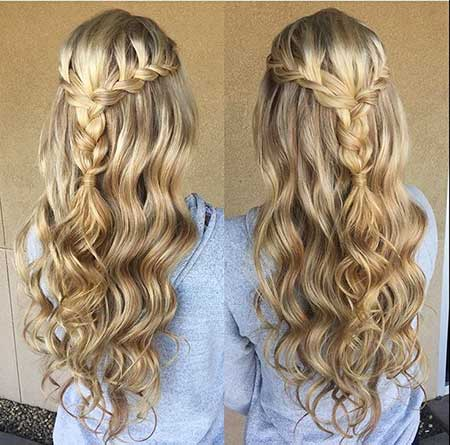Wedding, Updo, Curled, Waterfall, Curls