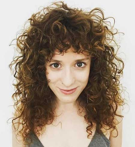 Curly Hair with Bangs Layered Hairstyles with Bangs, Curly Hairstyles
