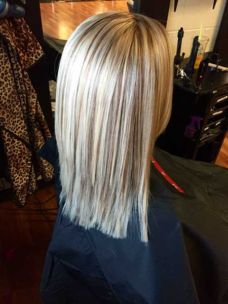 Cool Ash Blonde Blonde Ighlights On Brown Air Straight, Balayage, Ombre