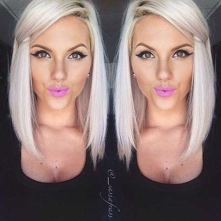 Platinum Hair Platinum Blonde Bobs, Long Bob, İdeas, Photos,