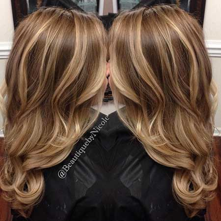 Blonde Highlights On Medium Brown Hair