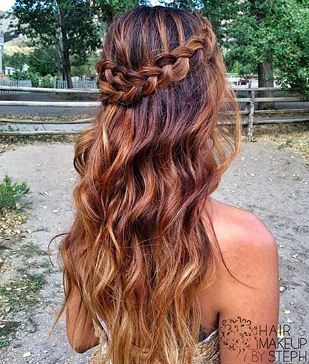 Boho, Updo, Waterfall, Long, Curls