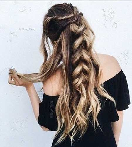 Twist, Twists, Half, Updo, Long