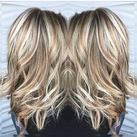 Heavy Blonde Highlights On Brown Hair Short Brown Hair,