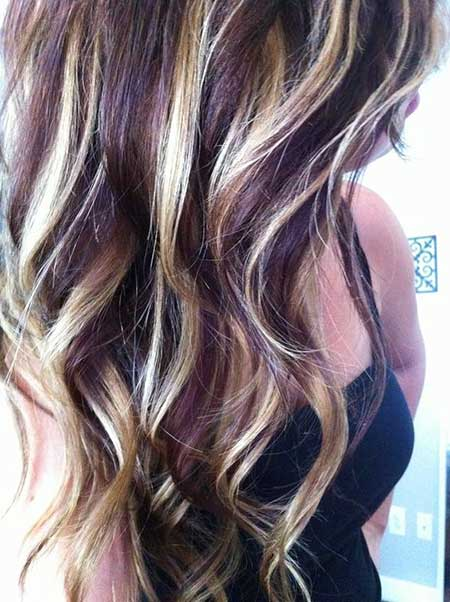 Dark Purple Highlights Dark Purple Hair, Balayage