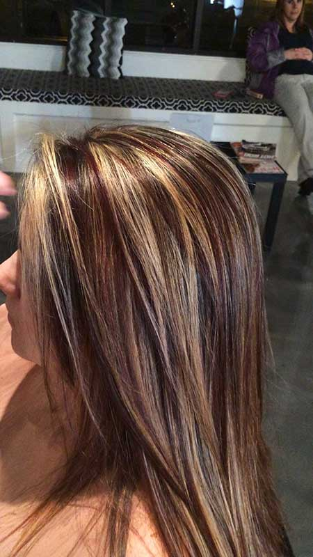 And Red Highlights On Brown Hair Summer, Highlights